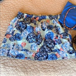"""""""J Crew"""" Colorful Floral Skirt"""